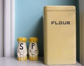 Vintage BeautyWare Yellow Flour Canister