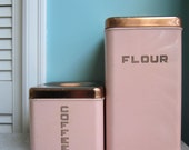 Pink LIncoln BeautyWare Kitchen Canisters Tins
