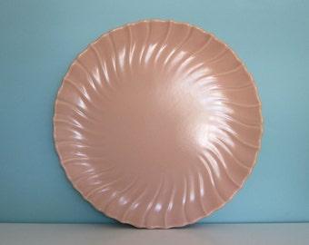Franciscan Ware Coronado Chop Plate,  Coronado Platter, Coral, Peach Platter, Peach Coronado Plate, Franciscan Chop Plate, Ruffly Platter