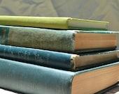 ON SALE- Set of 4 Green Vintage Books