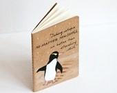 "Penguin Notebook, Hand Painted Moleskine ""le penguin"" Notebook"