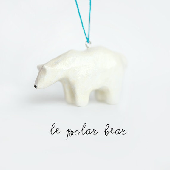 Christmas Ornament, Le Tenacious Polar Bear Totem, One of a Kind