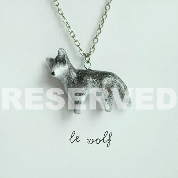 RESERVED Le Brave Wolf Totem Necklace