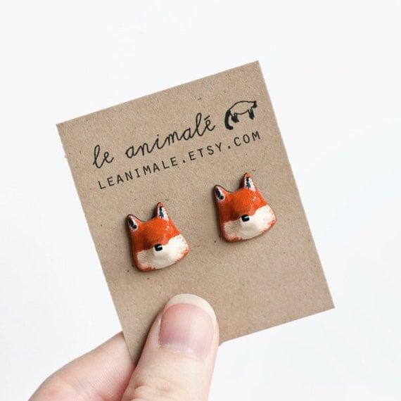 Le Fox Stud Earrings