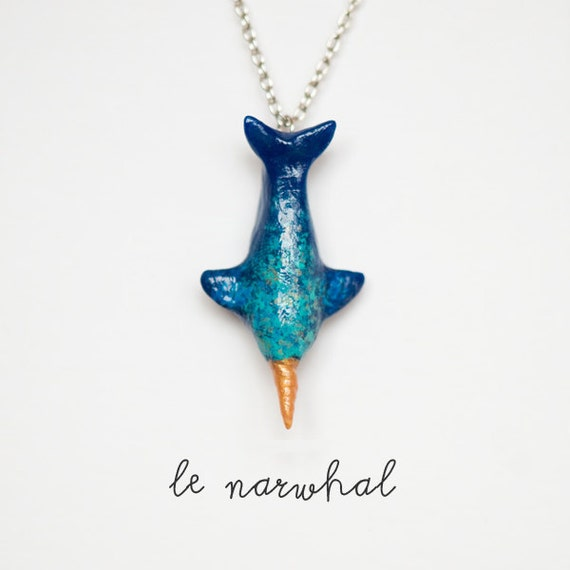 Narwhal Necklace, Le Wandering Narwhal Totem - Made to Order