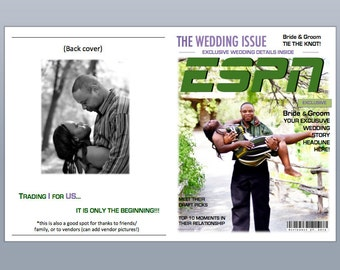 ESPN magazine wedding program template