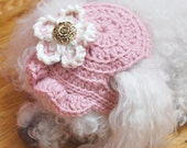 Hat Sale Free Shipping Super Sale Crochet Pink Babushka Hat