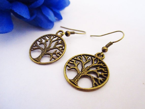 RESERVED - Tree of Life Earrings Bronze
