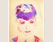 Audrey Hepburn Digital Watercolor