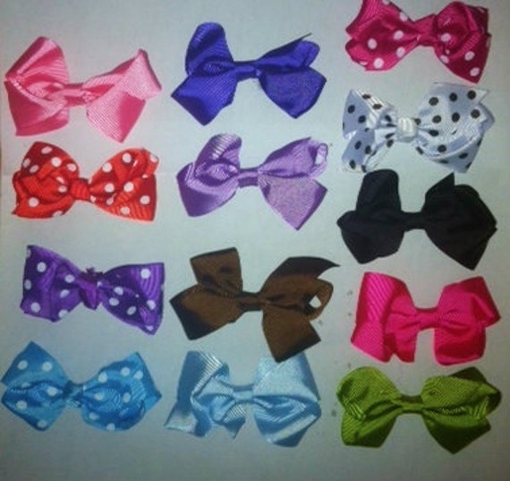 """12 Pc Wholesale lot 3"""" Boutique Bow for Girl Hair Accessories with Alligator Clip"""