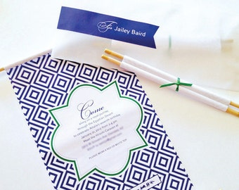 Egyptian Birthday Party Invitations Personalized Printable Invites