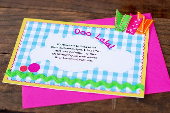 Lalaloopsy inspired Birthday Party Invitations Printable Personalized Birthday Invites