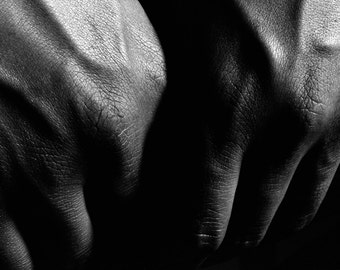 Hands B&W photograph 8x10