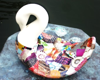 Funkytown Swan Decoupage