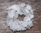 Handful of White and Off White Hawaiian Sea glass, 98 pieces