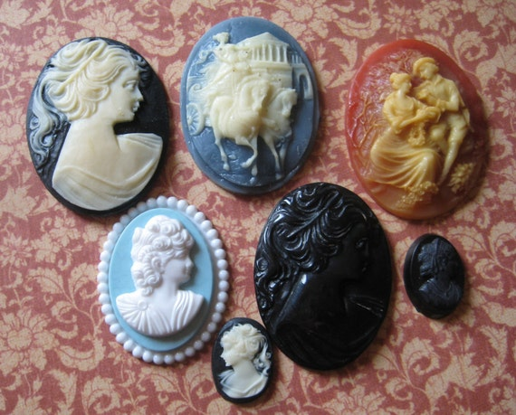 Vintage Cameos Mixed lot of 7