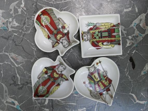 Vintage Porcelaine De Paris individual candy or nut card dishes