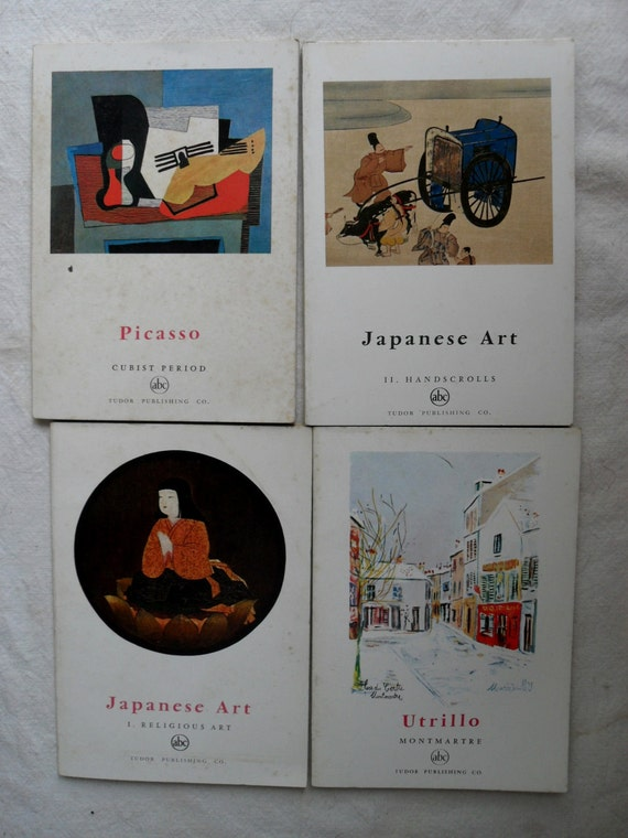 4 vintage art books by Tudor Publishing Co. Picasso, Utrillo and Japanese Art