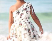 Stella One-Shoulder Dress PDF  Pattern Tutorial, sizes 2-10 years included