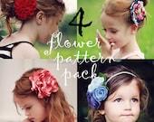 4 Flower Pattern Pack, Includes: Rosalind, Corienne, Nadine, & Ava