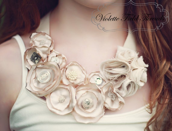 Delilah Statement Necklace- PDF Pattern Tutorial, 2 sizes: 0-3 years & 4-12 years