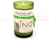 Macintosh Apple Soy Candle - Cut Wine Bottle - 12 oz. - Signature Collection