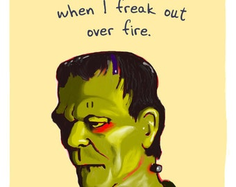 Frankenstein 8x10 Print with Phrase