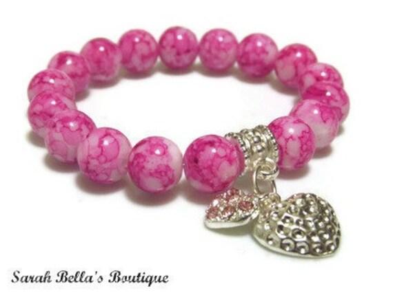 Sweet Pea - Pink Childrens Beaded Bracelet