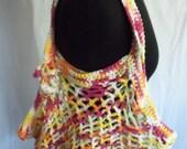 Reusable Crocheted Shopping or Book Bag