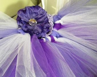 Baby Tutu:  Purple, Lavender & White Spring Tutu