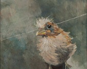 Portrait of a Bird -  Giclee Print of Acrylic Painting by Heather Mattoon