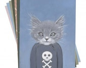 Set of 12 Postcards/ Small Prints of Cats In Clothes - HeatherMattoonArt