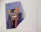 Greeting Card - Cats In Clothes