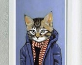 Framed Fine Art Print - Brewster - Cats In Clothes by Heather Mattoon