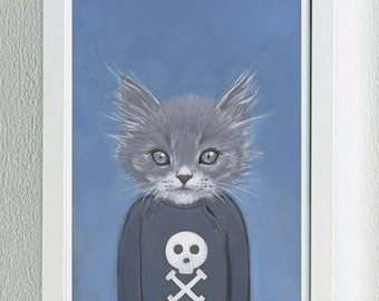 Framed Fine Art Print - Henry - Cats In Clothes by Heather Mattoon