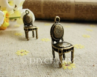 Antique Bronze Lovely Chair Charms 10x29mm - 10Pcs - DC21828