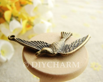 Antique Bronze Flying Swallow Birds Charms 15x30mm - 10Pcs - DC22970