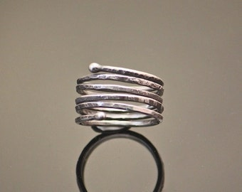 Sterling Silver Ring - Twist Ring - Sterling Twist Ring - Ring - Silver - Texture - Stack - Jewelry - Pam Hurst - Sterling - Sterling Ring