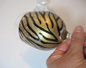 Tiger Print Painted Wine Glass