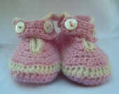 Pure Cashmere Baby Booties - Baby Shower Gift - Hand Crochet