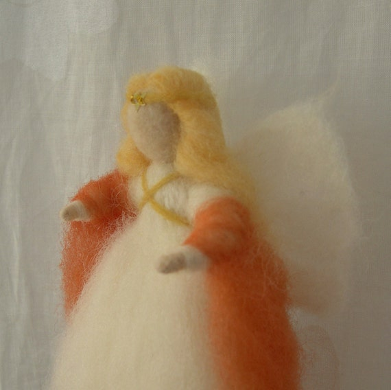 Needle Felted Angel for your Nature Table Corner - Waldorf style