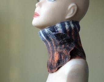 "Felted scarf-collar "" Tiger"""
