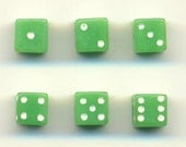 100pcs. 5mm Tiny Green Plastic Dice A019
