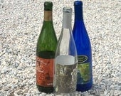 12 Wine Bottles Blue, Clear, Green Your Choice of Color, Case Recycled