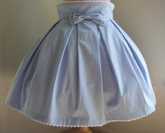 Size Lolita Light Blue High Waist Skirt