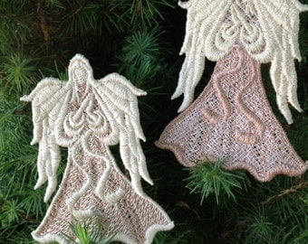 Beautiful, Machine Embroidered, Lace Angel