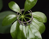 "Vintage handmade small silver hoops, rhodium plated hoop earrings 7/8"" FREE SHIPPING"