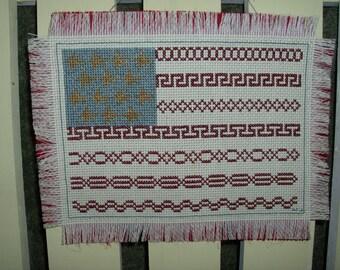 Wall Hinging Cross Stitch AMERICAN FLAG