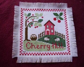Wall Hanging Cross Stitch CHERRY HILL