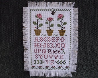 Wall Hinging Cross Stitch THREE ROSES